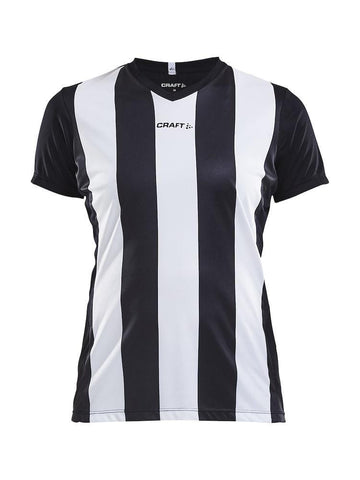 CRAFT PROGRESS JERSEY STRIPE WMN BLACK/WHITE 2XL