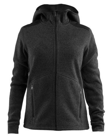 NOBLE HOOD JACKET WMN BLACK MELANG 2XL