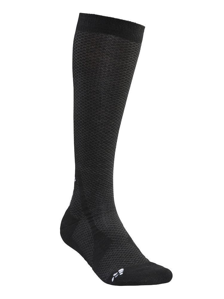 WARM HIGH SOCK BLACK/WHITE 43/45