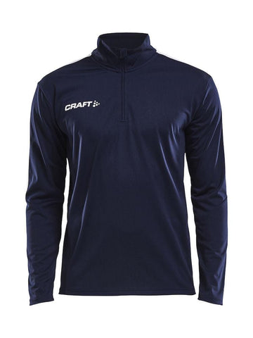 CRAFT PROGRESS HALFZIP LS TEE MEN BLACK/WHITE S