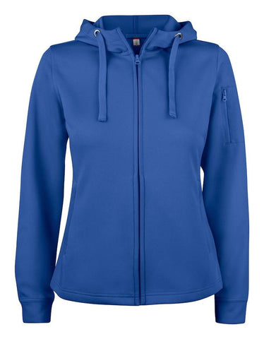 Damen Basic Active Hoodie Full Zip - WERBE-WELT.SHOP