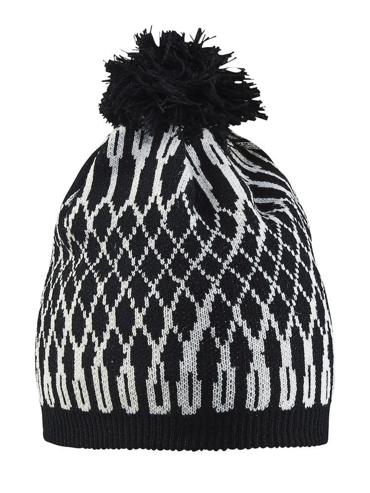 SNOWFLAKE HAT BLACK/WHITE L/XL