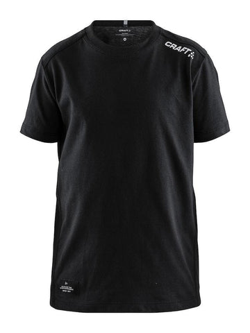 COMMUNITY MIX SS TEE JR BLACK 146/152