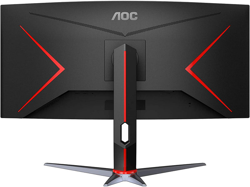 AOC Agon Monitor: 34'' Curved Monitor 3440 x1440; MVA; 144hz; D Sub; GP; HDMI; Display Port; 4 year carry in/swop out.