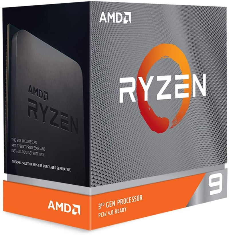 AMD RYZEN 9 3900xt 7nm SKT AM4 CPU; 12 Core/24 Thread Base Clock 3.8GHz; Max Boost Clock 4.7GHz ;70 MB Cache; TDP 105W