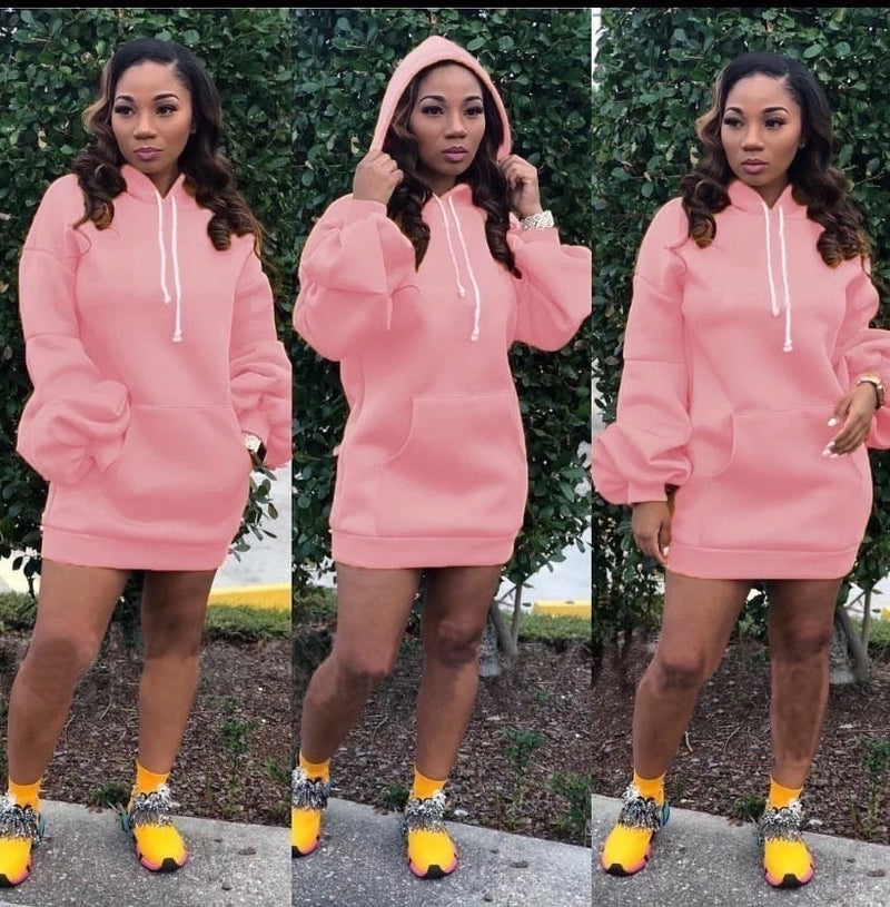 Pull Over Dress Hoodie