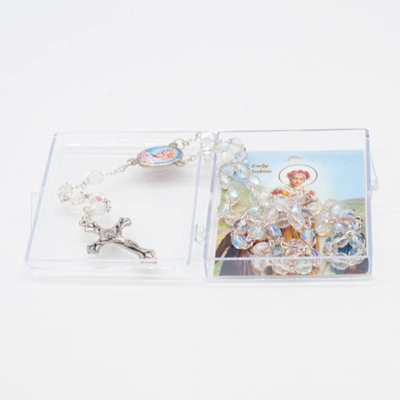 La Salette Clear Crystal Rosary