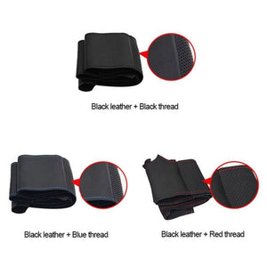Steering Wheel Leather Stitch Cover for Mitsubishi Pajero 2007-2021 Generation 4