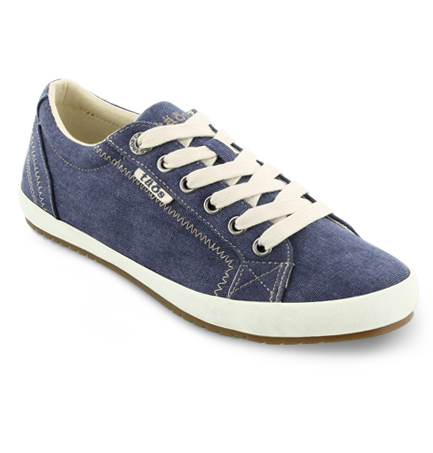 Star Sneakers in Blue Wash Canvas