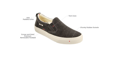 Taos Rubber Soul Active Fashion Slip On Sneakers