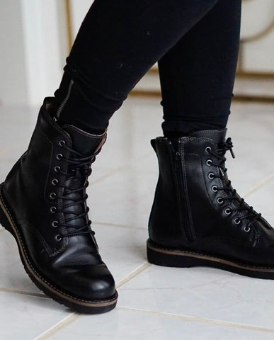 Taos Work It High Combat Fashion Boot in Black