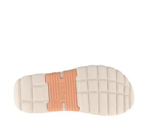 Outsole Angle of Clay/Cantaloupe adjustable sandal with cupping footbed & arch & metatarsal support - size 6