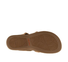 Load image into Gallery viewer, Outsole Angle of Natural Slide sandal with three adjustable hook & loop straps  - size 6