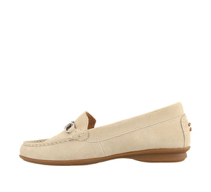 Instep angle of Ice Suede loafer featuring suede upper materials and a suede footbed - size 6