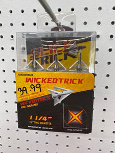 Slick Trick Wicked trick Broadheads
