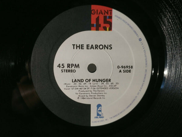 "LP - The Earons : Land of Hunger (1984) - 12"" Maxi - Orig. US Press - *NM*"