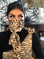 Load image into Gallery viewer, Leopard Scarf Mask