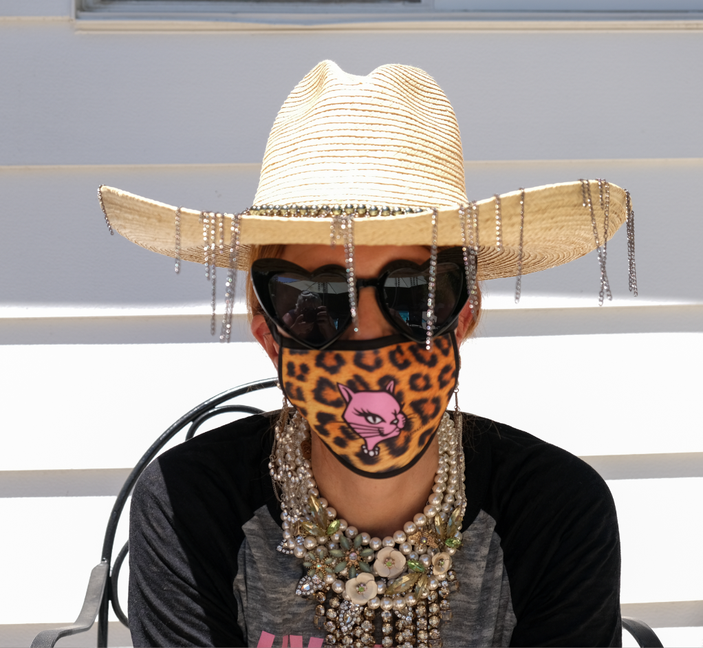 Leopard Logo Kitty Mask