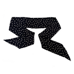 Load image into Gallery viewer, WHITE DOTS All-In-One Scarf / Mask / Hair Bow