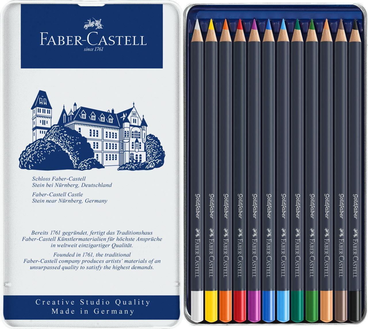FABER-CASTELL GOLDFABER COLOUR PENCIL SET,12
