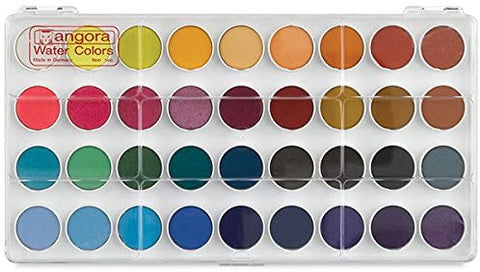 ANGORA OPAQUE WATERCOLOUR SET, 36 PAN SET