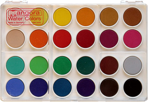 ANGORA OPAQUE WATERCOLOUR SETS, 24 PAN SET