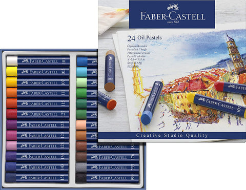 Faber Castell Creative Studio Oil Pastel Crayons 24