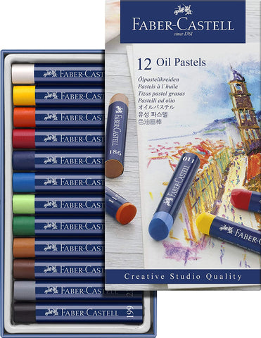Faber Castell Creative Studio Oil Pastel Crayons 12