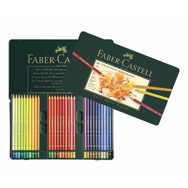 FABER-CASTELL POLYCHROMOS COLOURED PENCIL SET, 60