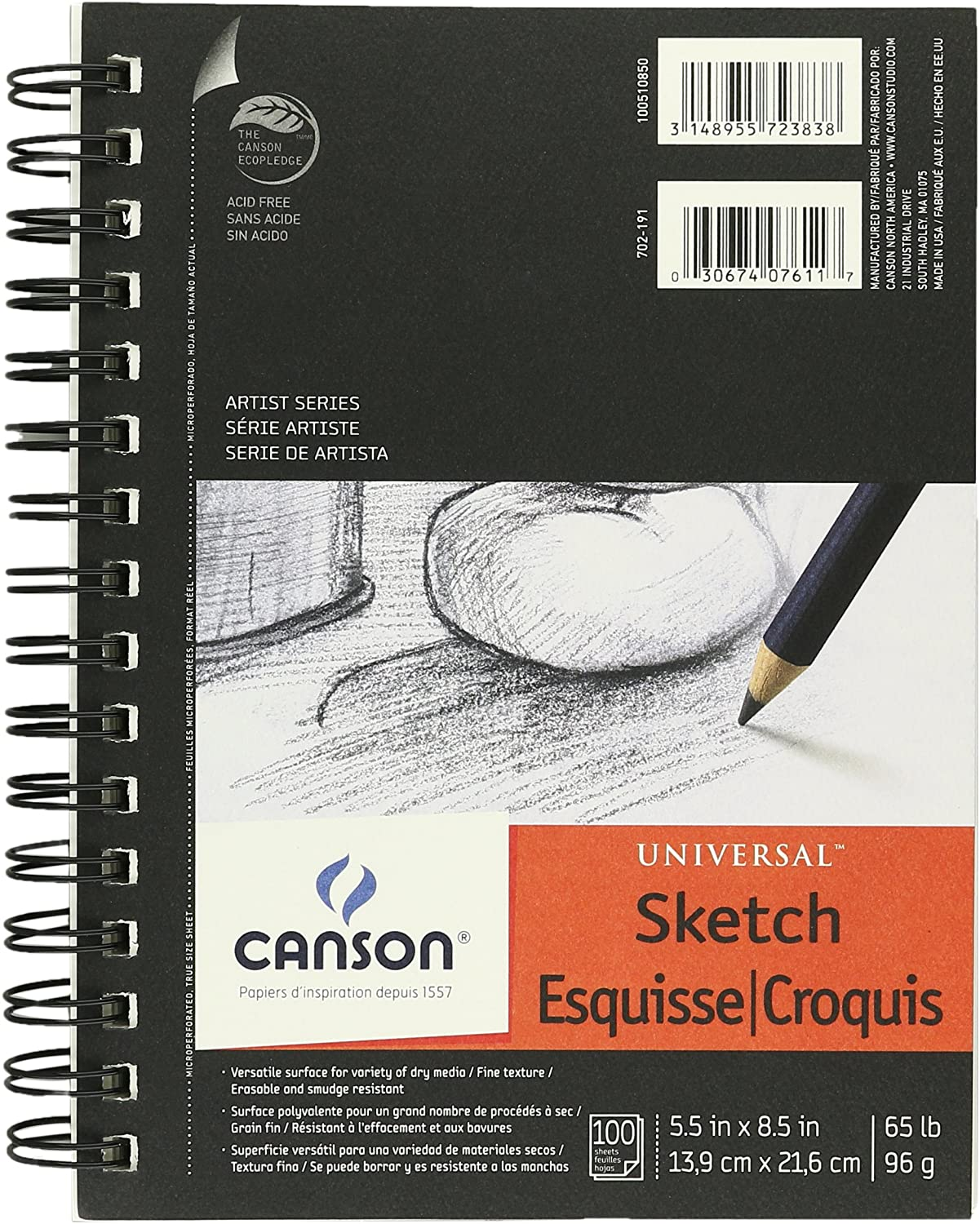 "Canson Universal Sketch Pad 5.5"" x 8.5"" (100 sheets)"