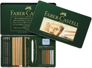 Faber-Castell PITT Monochrome Set Tin of 25
