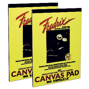 Fredrix Canvas Pads - 10 Sheets 9 x 12 inches