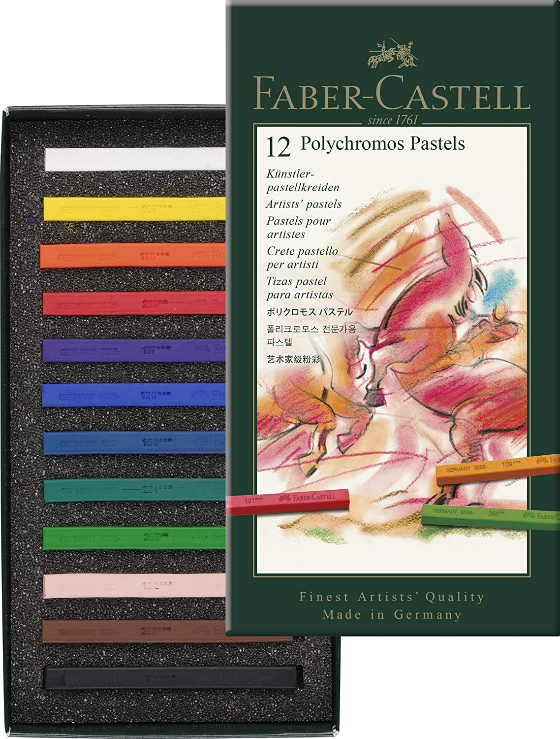 Faber Castell  POLYCHROMOS ARTISTS PASTELS SET OF 12
