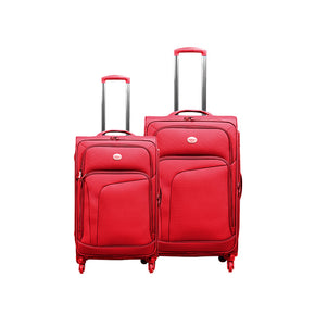 "Swiss Pro Sion Softside Pack Of 2 - 20"" + 26"" Trolley Bag"
