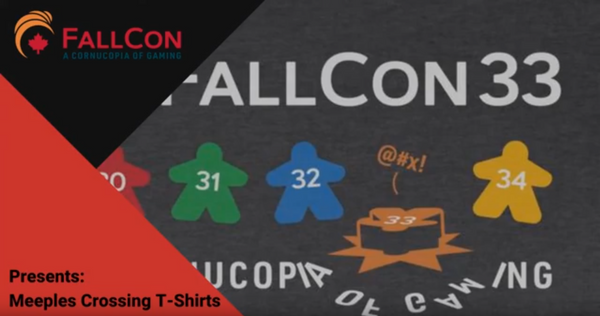 FallCon Presents Meeples Crossing T-Shirts (Our First Video Review!)