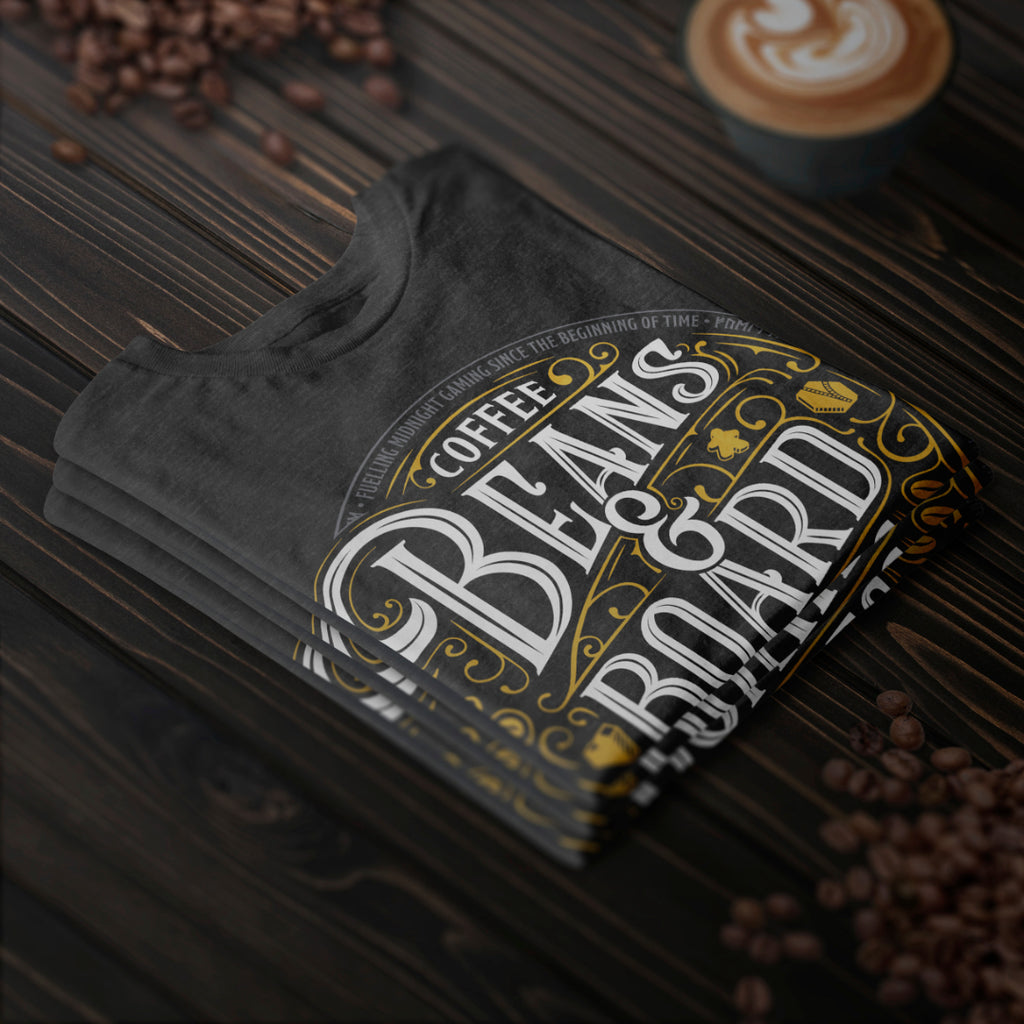 Coffee Beans and Board Games Folded Mockup
