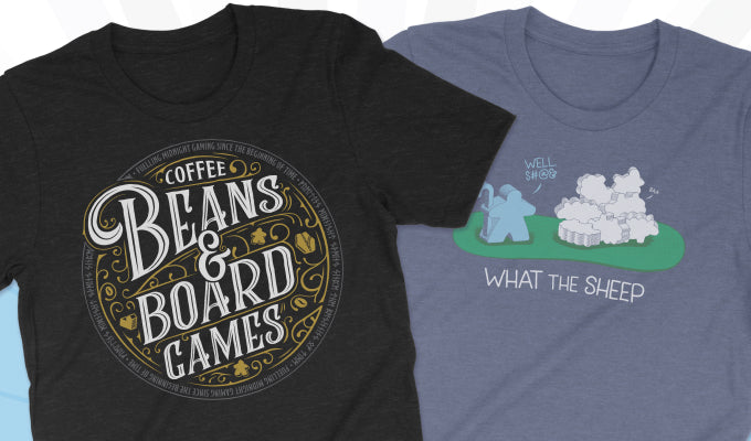 Two new board game T-Shirts for your enjoyment