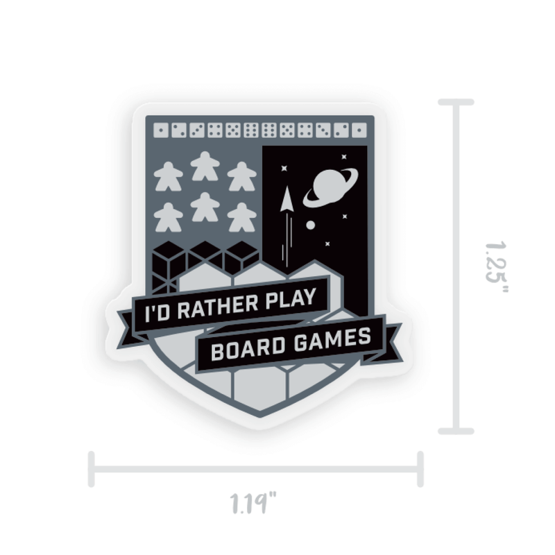 "I'd Rather Play Board Games - 1.25"" Acrylic Pin"