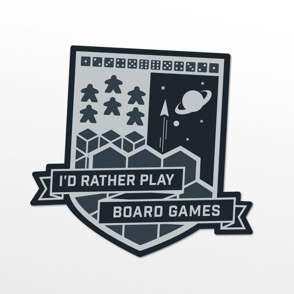 "I'd Rather Play Board Games - 2"" Sticker"