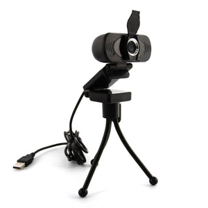 Full HD 1080P USB Computer Webcam with Tripod and Privacy Shutter