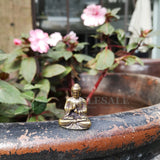 Mini Portable Vintage Brass Buddha Statue