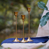 Retro Bronze Candle Holders
