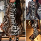 Bandage Long Sleeve Dress