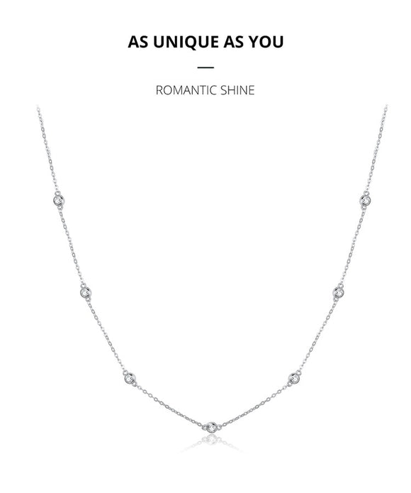 Paved CZ Link Chain Necklace