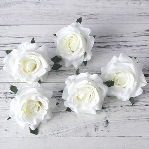 Artificial White Silk Flower