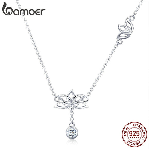 Lotus Flower Pendant Necklaces
