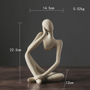 Nordic Abstract Thinker Statue