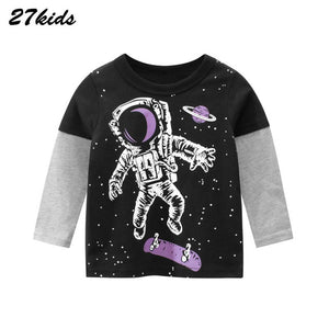 Astronaut Pattern  Long Sleeve T-Shirt