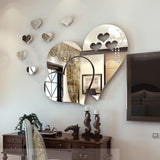 Cute 3D Mirror-Surface Wall Sticker