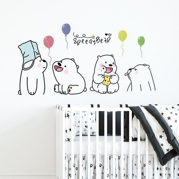 Cute lazy Bear Wall Stickers
